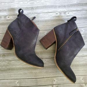 """BP """"Lance"""" Leather Block Heel Bootie"""